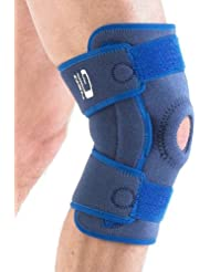 Neo G Knee Support, Hinged Open Patella - Side Hinges Support For ACL, Arthritis, Joint Pain, Meniscus Tear, Running, Skiing - Adjustable Compression - Class 1 Medical Device - One Size - Blue