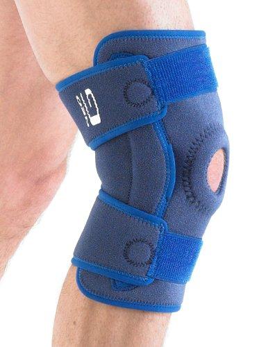Neo G stabilisiert aufklappbaren Offene Kniebandage-One Size, Unisex, Medical Grade, Qualität Verstellbare Stütze, Bandage mit Seite Scharniere hilft bei Control Flexion Bewegungen, Unterstützung Verletzte, geschwächte, arthritische Knie, Zerrungen, Verstauchungen, Instabilität, Patella-Tracking, Schmerzen, Schmerzen, Steifheit, Genesung, Alltag Unterstützung und Wärme