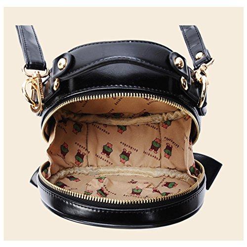 Yoome Elegant Passende Nieten Bowknot Clutch Geldbörse mit Schulterriemen Kleine Taschen für Frauen - Schwarz Marine