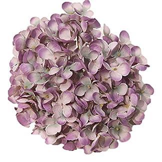 Mengonee DIY 19cm Hortensia Flor del Arte Artificial Heads decoración de la Boda Floral de Seda
