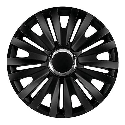 15 Zoll Radkappen ROYAL (Schwarz) passend für fast alle Fahrzeugtypen