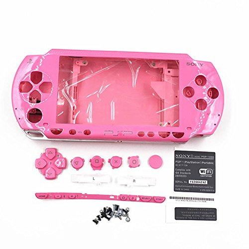 Gehäuse Case Shell Cover mit Tasten Schraubenzieher für Sony PSP 10001001PINK