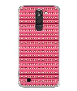 Fuson Designer Back Case Cover for LG K10 :: LG K10 Dual SIM :: LG K10 K420N K430DS K430DSF K430DSY (Hearts Spades Coffee Red Love )