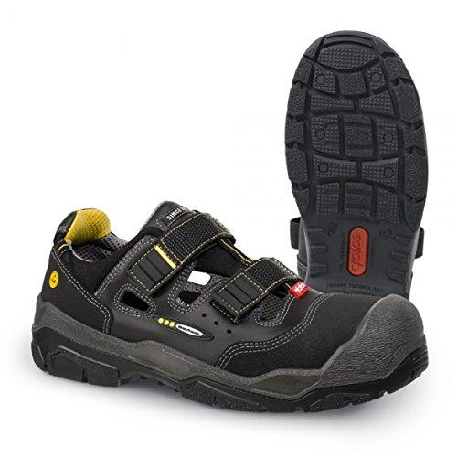 Jalas Chaussures de sécurité 1518Anti Slip + S1P src HRO noir/gris/jaune