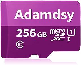 Adamdsy Micro SD Karte 256GB, microSDXC 256GB Speicherkarte + SD-Adapter für Kameras, Tablets und Android Smartphones(Z158-A2)