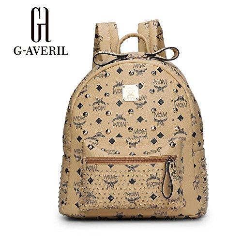 G-AVERIL GA1116-Q, Borsa a zainetto donna Argento Silvery Khaki
