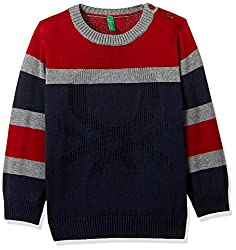 United Colors Of Benetton Boys Sweater (17A12CDCZ508G13CS_Black Melange)