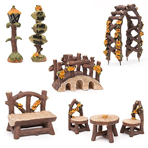 fortag-miniatur-woodland-outdoor-fairy-garten-kollektion-mbel-mit-2x-hocker-stuhl-tisch-hlzerne-tr-a