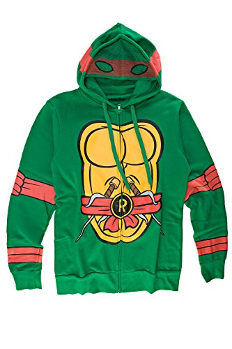 Teenage Mutant Ninja Turtles I Am Raphael Herren Zip-Up Kostüm Kapuzenpullover | (Kostüme Turtles Ninja Shirt)
