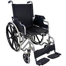 Zusammenfaltbarer Rollstuhl mit Selbstantrieb | Mit herunterklappbare Armlehnen und herausnehmbare Fußstützen | Hohe Sicherheit und einfache Bedienung | Sitzbreite 43 cm | Maximale Belastbarkeit 100 kg | Giralda Modell | Mobiclinic