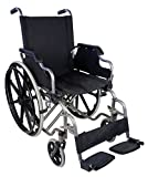 Sedia a rotelle pieghevole ad autospinta | Braccioli ribaltabili e peggiapiedi estraibili | Sicura e maneggevole | Larghezza seduta: 43 cm | Peso massimo sopportato: 100 Kg | Modello Giralda | Mobiclinic