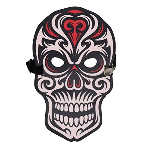 BESTOYARD Halloween-Maske mit LED-Licht, lustige leuchtende Stimmsteuerung, Maskerade, Party, Cosplay, Kostüm, Maske, Ethylenvinylacetat, Skeleton Skull Mask, 16 x 15 x 3cm