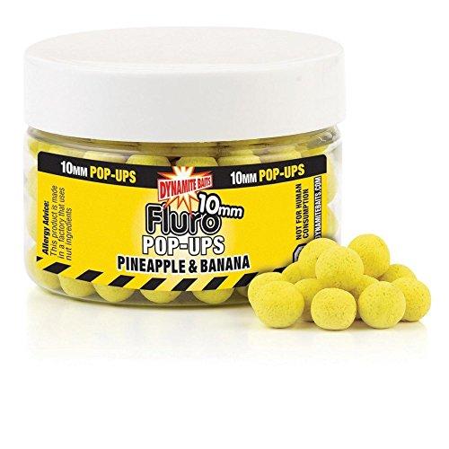 Dynamite Baits - Pineapple Banana Fluro Pop Ups, color 0, talla 1 Pot