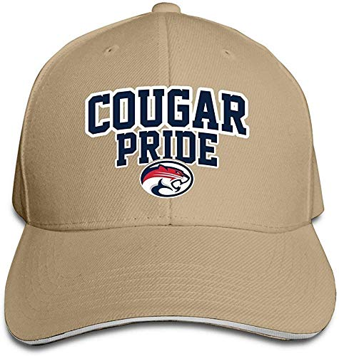 CehTureal Huseki University of Houston UH Houston Cougars Logo Flex Baseball Cap Black Natural Houston Cougars Hat
