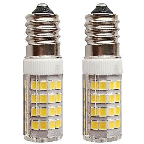 SFTlite [2er Pack Warmweiß] 4W E14 LED Lampe 51 SMDs Nicht Dimmbar - Ersatz für 35W Halogenlampen - 400lm - 3000K - 360°Abstrahwinkel - LED Leuchtmittel SES E14,Edison Schraube LED Birnen 220-240V AC [Energieklasse