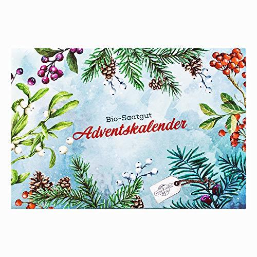 Bio-Saatgut-Adventskalender 2018 - Mediterrane Gemüse, Kräuter & essbare Blüten - Gärtnern Fensterbank