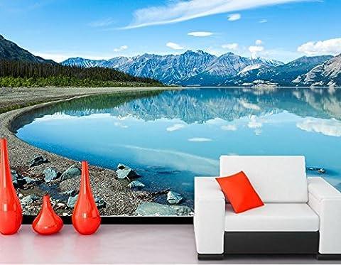 400 cmX 280 cm Kanada See Berge Steine Landschaft See Natur wallpaper Papel de parede Wohnzimmer Fernseher Sofa wand Schlafzimmer 3d Wallpaper murals, F