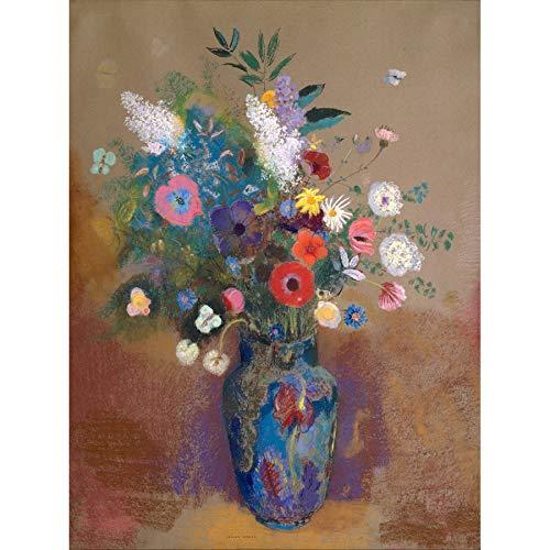 Flowers Odilon Redon Unframed Wall Art Print Poster Home Decor Blumen Wand Zuhause Deko - Daisy Bouquet Wand