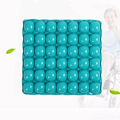 HGCY Luft Aufblasbares Kissen Anti Decubitus Quadratisch Weich Bequem Geeignet Verlängerte Sitzende Menschen Grün 43X41 Cm