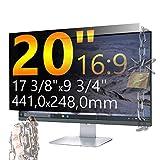 Xianan 20 zoll 16:9 Breitbild Displayfilter Bildschirmfilter 17