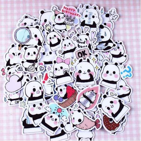 Kreative Kawaii selbstgemachte Panda Baby schöne Aufkleber Scrapbooking dekorative Aufkleber/DIY Handwerk Fotoalben 50pcs (Erwachsenen-schlafzimmer-wand-abziehbilder)