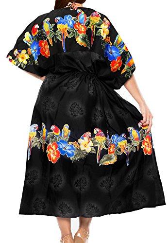 lange Kaftan Bademoden Badeanzug der Frauen Kleid Badeanzug Kleid Kimono verschleiern Badebekleidung Schwarz