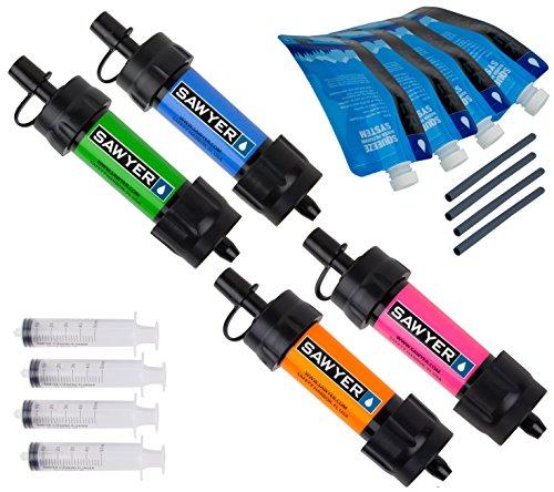 SAWYER Mini Wasserfilter system 4er Set, Mehrfarbig, SP124
