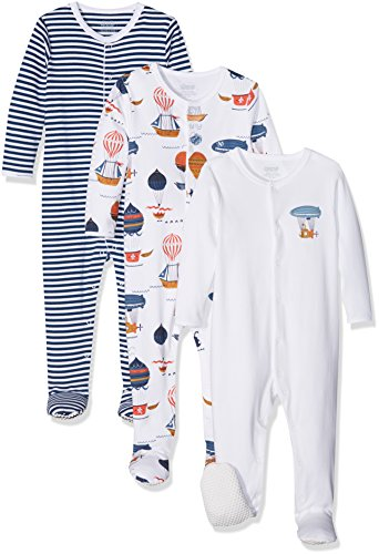 0bf3b4850 Mamas and Papas Baby Girls Pack of 3 Sky Sleepsuits Sleepsuits