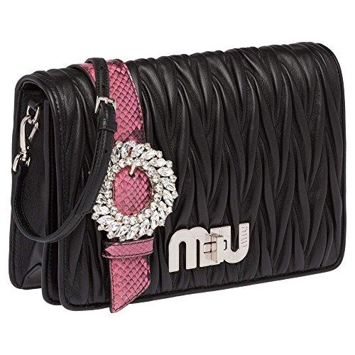 Miu-Miu-Womens-5BF0662BO5F004P-Black-Leather-Clutch