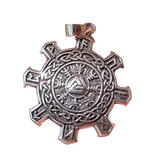 Celtics-halskette (925Silber Viking nordisch celtic Trident Anhänger Halskette Schmuck Art A14)