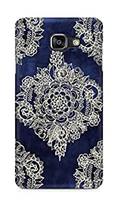 AMEZ Cream floral moroccan pattern on deep indigo Back Cover For Samsung Galaxy A5 (2016 EDITION)