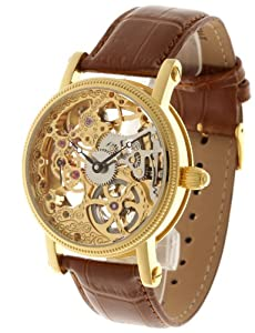 Reloj de caballero Yves Camani YC1021-B automático, correa de piel color marrón de Yves Camani