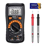 Tacklife DM02A Pocket Digital Multimeter Auto Ranging Voltage Tester with Backlit LCD