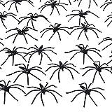 160 Piezas de Arañas de Halloween Arañas Negras de Plástico para Decoración de Halloween, Materiales de Fiesta de Halloween
