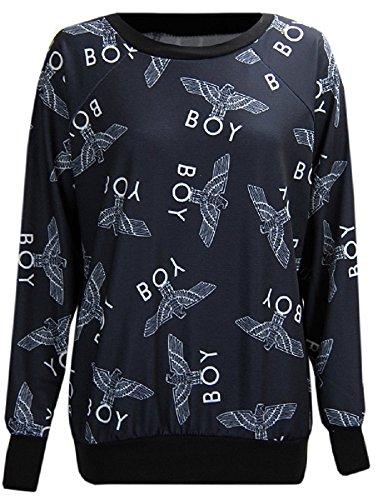 new-women-boy-london-eagle-print-sweatshirts-pull-over-jumper-top-uk-size-8-14-m-l-12-14-black-all-p