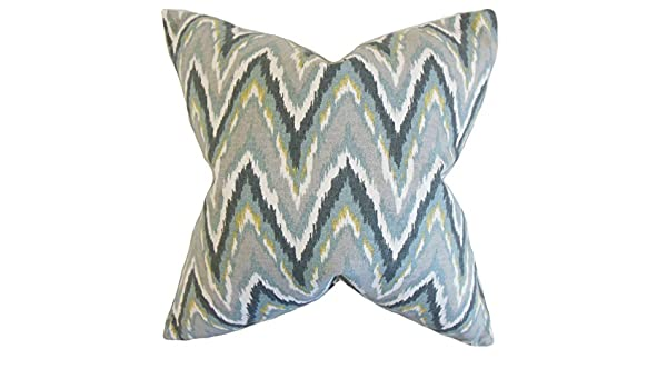 Buy The Pillow Collection Mineral Matisse Zigzag Bedding Sham King 20 X 36 Online At Low Prices In India Amazon In