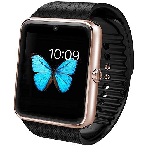 Smart Watch, Pcjob Smartwatch Android SIM Fotocamera per Samsung Sony Huawei LG Orologio Braccialetto Fitness -No APP per iPhone- Contapassi Chiamate SMS WhatsApp Twitter Facebook Fotocamera Sveglia