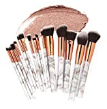 Cooljun Make Up Pinsel Set 15pcs Professionelles Schminkpinsel Kosmetikpinsel Lidschatten Gesichtspinsel Eyeliner (Mehrfarbig (15Pcs))