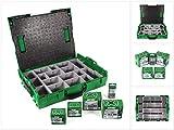 SPAX Montagekoffer Sortimo L-Boxx Aufbewahrungskoffer für Schrauben + 805 tlg. Zubehör-Set mit Senkmultikopfschrauben + Bits T-STAR plus