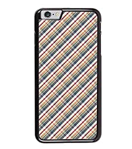 Fuson Premium 2D Back Case Cover Argyle pattern With White Background Degined For Apple iPhone 6S