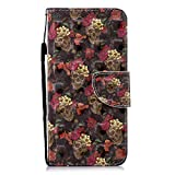 Lomogo OnePlus 6 Hülle Leder, Schutzhülle Brieftasche mit Kartenfach Klappbar Magnetverschluss Stoßfest Kratzfest Handyhülle Case für OnePlus6 - LOHEX26794#5