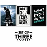 #9: Paper Plane Design Motivational/Inspirational Quotes Posters - Set of 3, Size 12 x 18 Inch