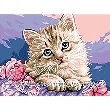 GMMH Diamond Painting Juego de 14x 18Diamante Pintura bordado mano Manualidades mosaicos gato