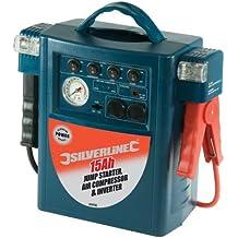 Silverline 345782 - Arrancador de emergencia, inversor y compresor (15 Ah)