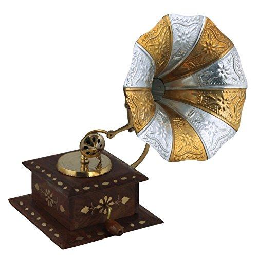 Gramophone Handmade vintage Dummy Showpiece solo per arredamenti | decorative Home hotel ristorante | antico Showpiece Gift item by Affaires w-40162