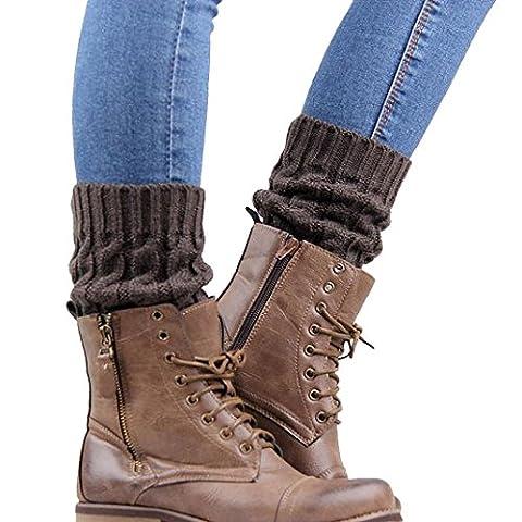 GuêTres Femme, Kolylong® Tricoté JambièRes Chaussettes Boot Cover (Gris)