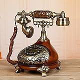 Radio antigua europea en el salón/Inicio-dormitorio vintage teléfono/Teléfono de moda viejo-E