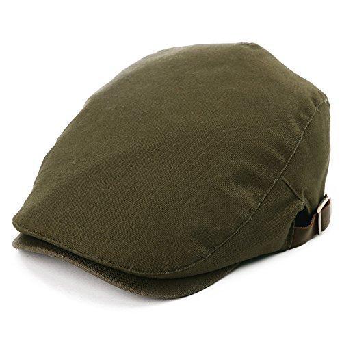 SIGGI SIGGI Flatcaps Schirmmütze Schiebermütze 57-59CM Sommer Herren Army grün