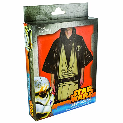 Star Wars – Disfraz poncho Jedi, color negro (Paladone PP2826SW)