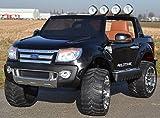 SL Lifestyle Kinderauto Elektroauto Ford Ranger Vollausstattung R/C in schwarz - Mit großem 12V/10Ah Akku 2 Motoren Original Lizenz Kinderfahrzeug
